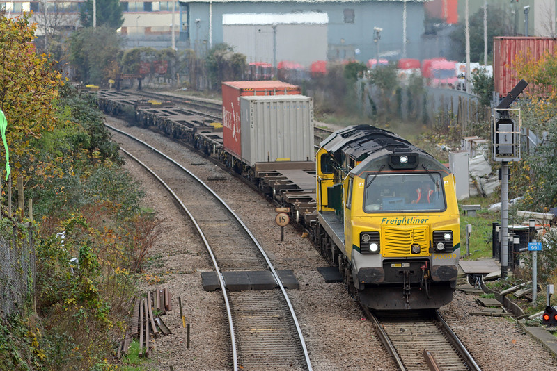 Unlike the 4M71 the Thames Gateway to Crewe 4M56 was very lightlly loaded, these two boxes made up a quarter of the payload