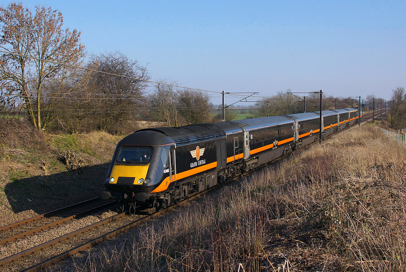 GC 43468 is seen approaching Askham tunnel whilst working 1N92 13:53 London Kings Cross to Sunderland.09/03/2014.Sony A65.