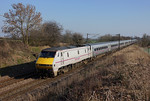 91130 Races north at Askham in charge of 1S19 13:15 London Kings Cross to Edinburgh East coast service.09/03/2014.Sony A65.