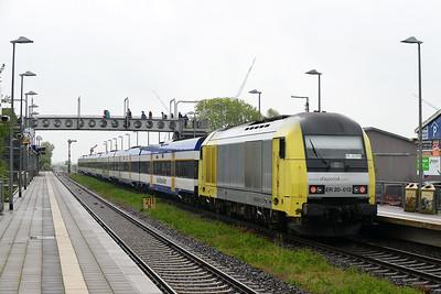 Class 223 No 223012 (ER 20-012) at Klanxbull on 31 May 2015