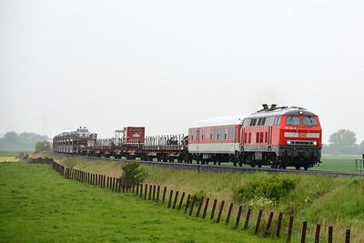 Class 218 No 218359 between Niebull and Klanxbull on 31 May 2015