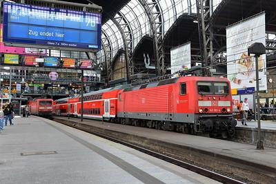 Class 143 No 143163 at Hamburg Hbf on 1 June 2015
