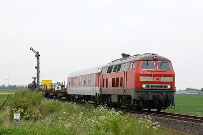Class 218 No 218315 between Niebull and Klanxbull on 31 May 2015