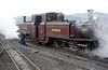 Merddin Emrys is serviced, prior to being run into the shed
