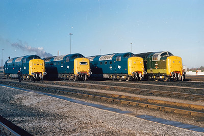 What a sight,4 ex works Deltics at York.