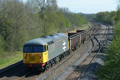 Class 56 No 56098 at Treeton on 20 April 2016 with the 6Z34 14:29 Leicester L.I.P. - Shipley Crossley Evans