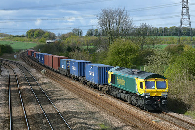 Class 66 No 66414 at Burton Salmon on 27 April 2016 with the 4N01 10:27 Leeds F.L.T. - Tees Dock