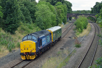 Class 37 No 37419 In Horbury Cutting on 3 August 2016 with the 2Z02 09:28 York - York Parcels Sidings (via Wakefield Kirkgate)
