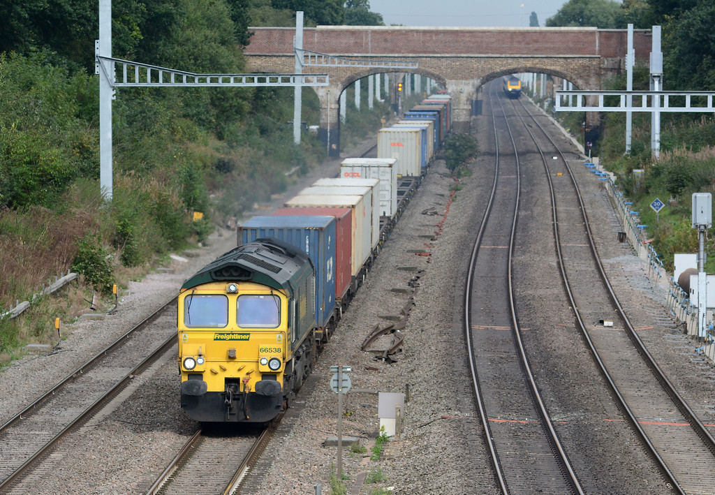 ...and finally (From a freight point of view) 66538 on 4O35 Daventry to Southampton.