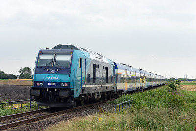 Class 245 No 245.208 between Niebull and Klanxbull on 7 August 2016