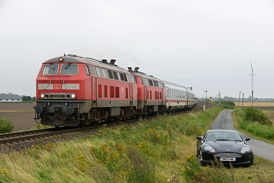 Class 218 No 218.341/218.359 between Niebull and Klanxbull on 7 August 2016