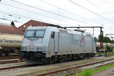 Class 185 No 185.418 at Padborg on 7 August 2016