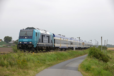 Class 245 No 245.204 between Niebull and Klanxbull on 7 August 2016