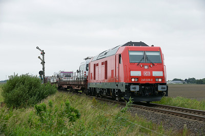 Class 245 No 245.026 between Niebull and Klanxbull on 7 August 2016