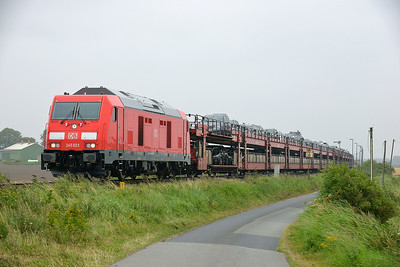 Class 245 No 245.023 between Niebull and Klanxbull on 7 August 2016