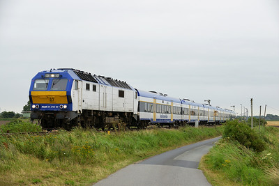 Class 251 No 251.007 between Niebull and Klanxbull on 7 August 2016