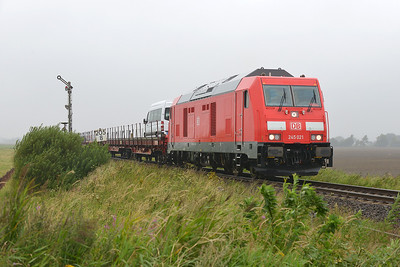 Class 245 No 245.021 between Niebull and Klanxbull on 7 August 2016