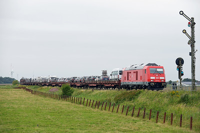 Class 245 No 245.022 between Niebull and Klanxbull on 7 August 2016