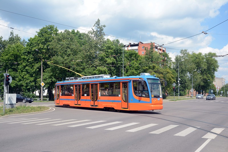 A new Russian built KTM 71-623 tram car