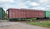 I shot some of the wagons, like this box car with what I assume is a brakeman's platform