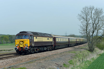Class 57 No 57312+57306 at Slitting Mill on 6 May 2016 with the 1Z77 06:11 Glasgow Central – Chesterfield