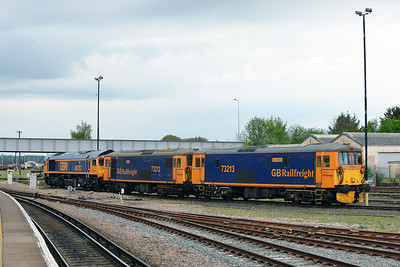 Class 73/66 No 73213/73212/66757 at Eastleigh on 9 May 2016