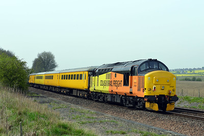 Class 37 No 37421+37025 at Slitting Mill on 6 May 2016 with the 3Z05 10:06 Neville Hill T&R.S.M.D - Derby R.T.C.(Network Rail)