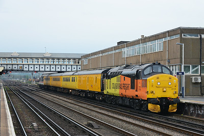 Class 37 No 37175+37254 at Eastleigh on 9 May 2016 with the 1Q51 11:15 Derby R.T.C.(Network Rail) - Eastleigh Trsmd