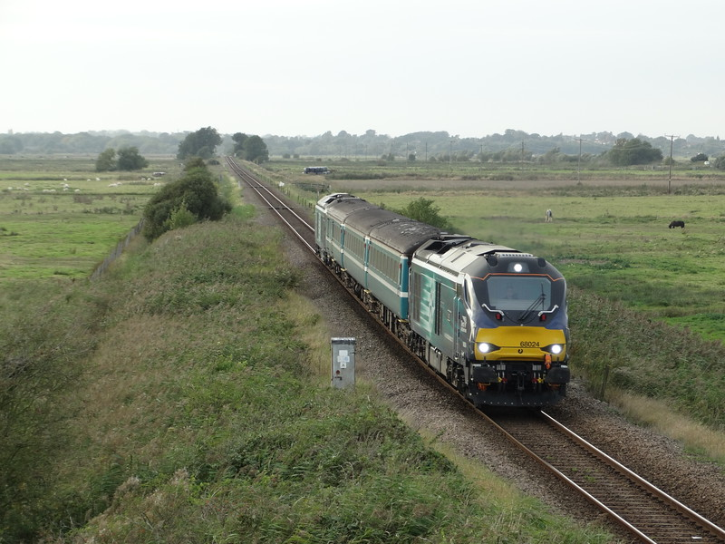 68024 - Halvergate<br /> <br /> 2P28 16.40 Norwich to Great Yarmouth
