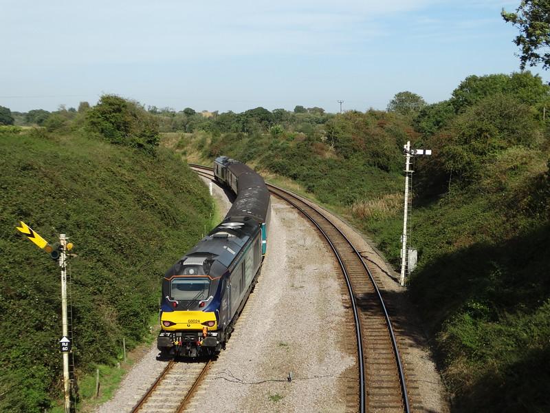 68024 - Reedham Swing Bridge<br /> <br /> 2J77 12:57 Lowestoft to Norwich