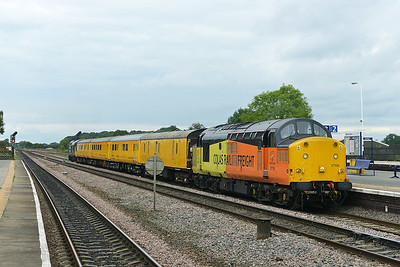Class 37 No 37116+37025 at Church Fenton on 19 September 2016 with the 1Q64 08:53 Derby R.T.C.(Network Rail) - Neville Hill T&R.S.M.D