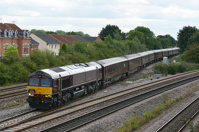 Class 66 No 66743+66746 at Church Fenton on 6 September 2016 with the 1Z36 12:35 Malton – York (via Milford Loop)