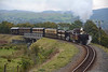Taliesin climbs the spiral over the line from Porthmadog