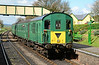 Hampshire DEMU 1125 is seen arriving at Ropley 23/04/2016.