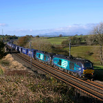 68020 & 68022 head through Docker in charge of the morning Tesco.05/11/2016.