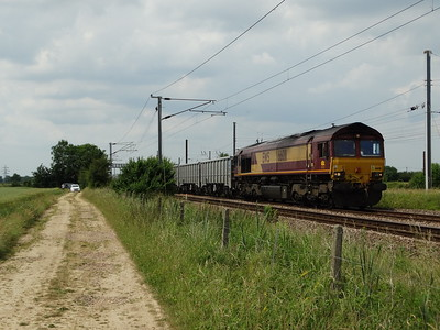 66011 - Marholm  6E63 12:55 Mountsorrel Sidings to Peterborough West Yard