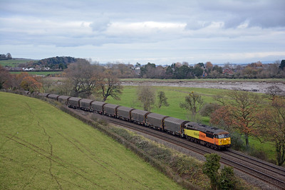 Probably Train of the Day in these parts, 56096 on the 6Z07 Washwood Heath to Llanwern, moving IHA sheeted steel carriers which Colas had used on the Boston Docks flow before losing it to DBC. With HS2 set to obliterate much of Washwood Heath Yard Colas had to find a new home for them.