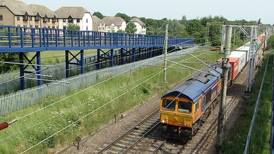 66766 - Witham (Motts Lane)  4M23 10:46 Felixstowe North GB Railfreight to Hams Hall GB Railfreight