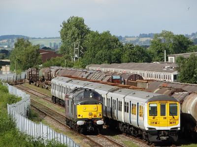37884 & 319003 - Long Marston  5M94 Hornsey EMU Depot - Long Marston (Units 319421 & 319013 for storage)