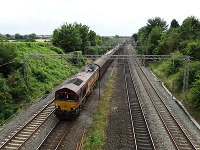 66199 - Roade  6M45 07:07 Dollands Moor Sidings to Daventry International Rail Freight Terminal Reception Railfreight Distribution