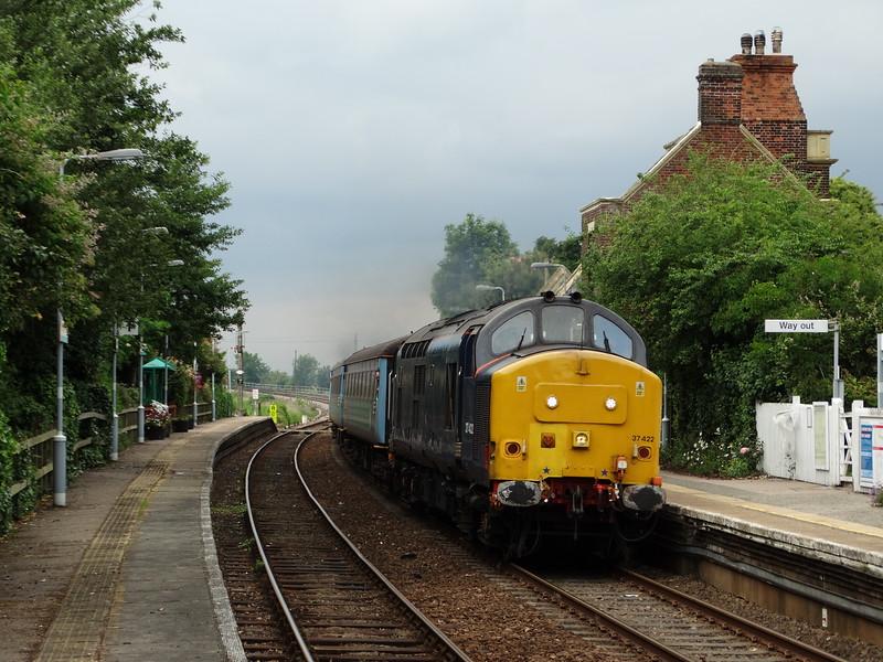 37422 - Somerleyton<br /> <br /> 2J80 14:55 Norwich to Lowestoft