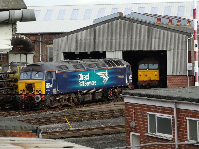 57303 & 57011 - Eastleigh Works