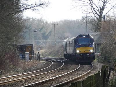 68016 - Strumpshaw (RSPB Foot Crossing)  2J73 10.57 Lowestoft to Norwich