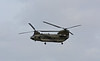 And then, out of the blue an RAF Chinook roared across at low level