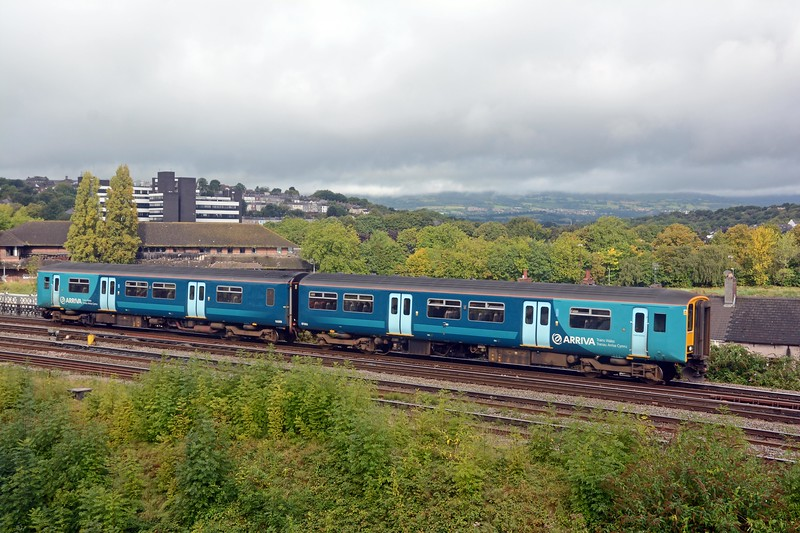 The 09:16 Maesteg to Cheltenham Spa, a long distance local which takes two and a quarter hours for 91 miles with sixteen intermediate stops.