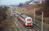 In the opposite direction one of the Skoda built class 671 EMUs on a Trenčín bound local