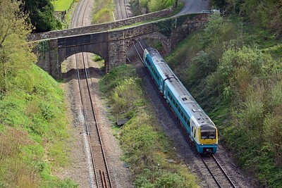 Another bird's eye view from on top of the tunnel, 175001 on the 13:40 Cardiff Central to Manchester Piccadilly (arr 17:11)