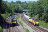 Also running early was the 6C26 Westbury to Aberthaw, new 70817 was up front. A Nottingham to Cardiff XC 170 overtakes.
