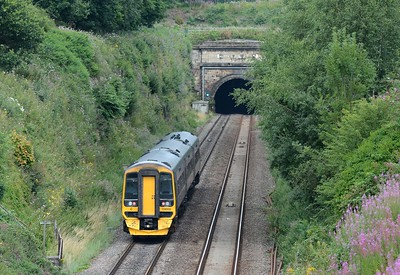 In the opposite direction the 16:30 Cardiff Central to Portsmouth Harbour (arr 19:50) takes its leave of Wales as it descends into the Severn Tunnel.