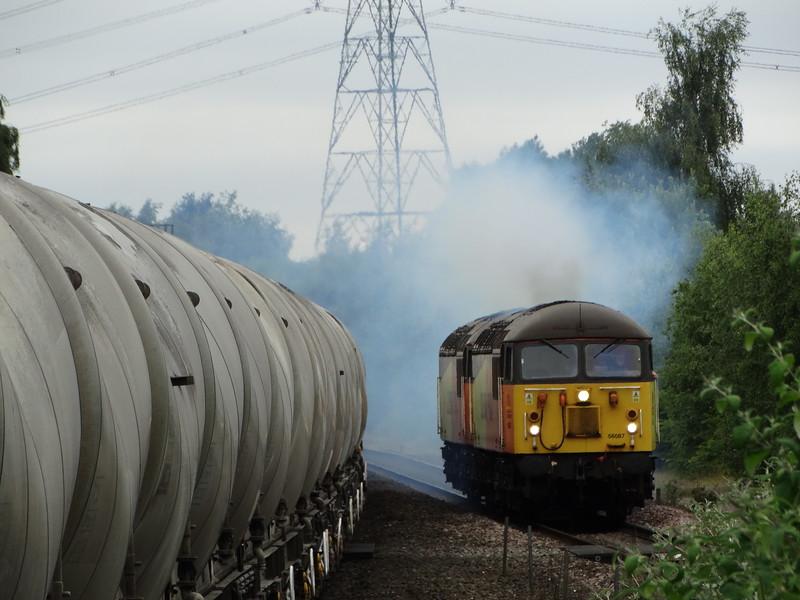 56087 & 56113  - Water Orton<br /> <br /> 0Z56 1300 Washwood Heath Metropolitan Cammel to Derby RTC Serco